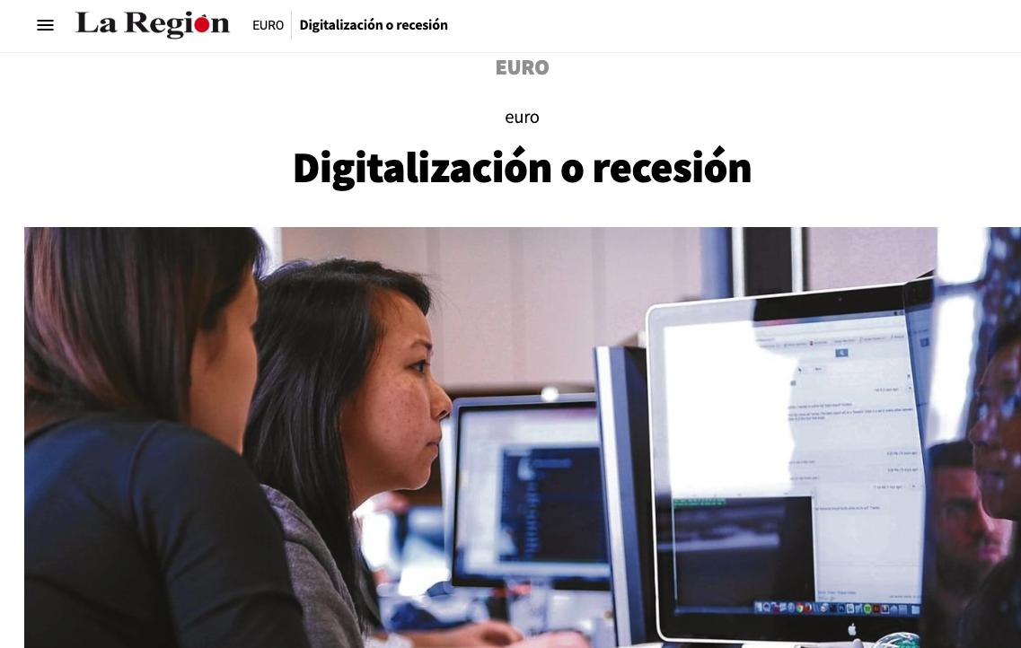 Article by Jorge Díaz-Cardiel in La Region