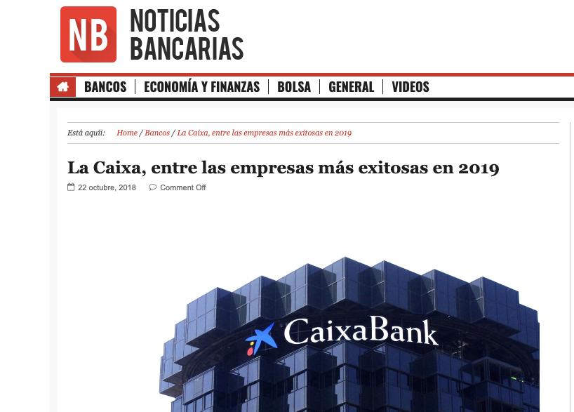 Noticia sobre estudio Advice en Noticias Bancarias