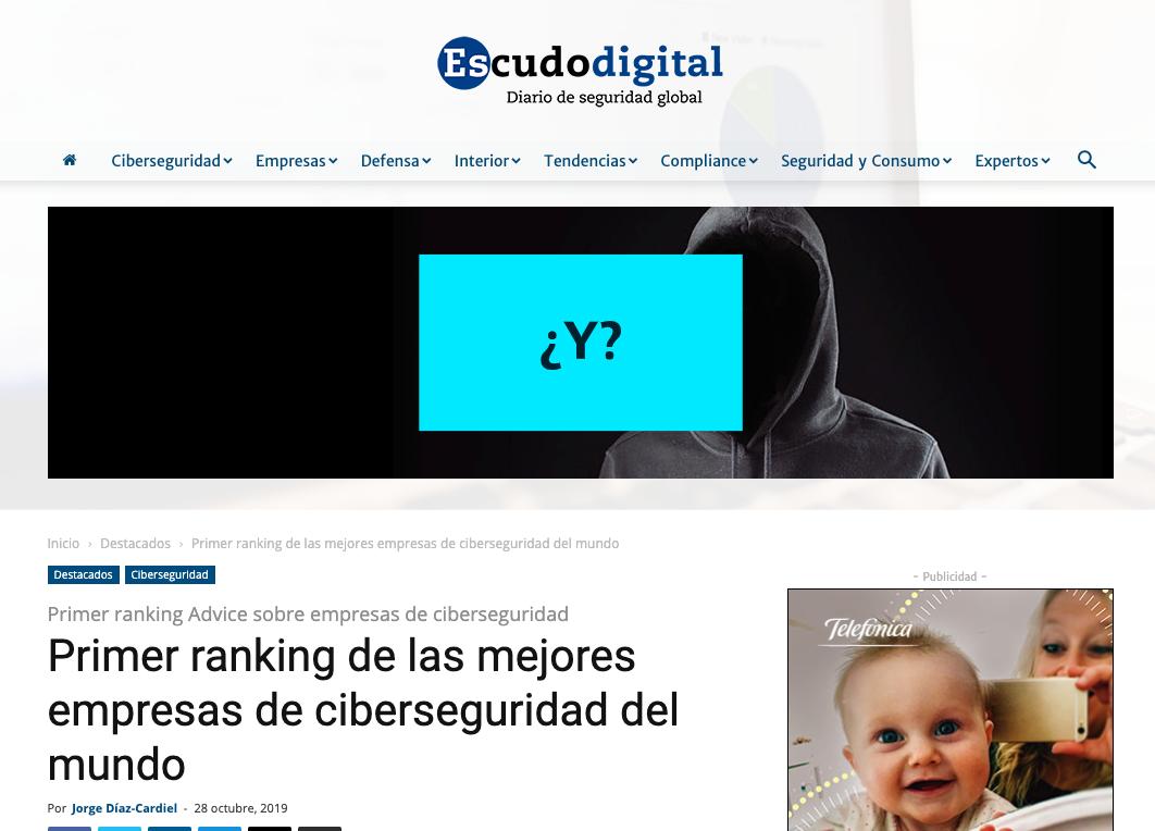 Press release about Advice´s study in Escudo Digital
