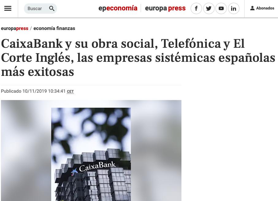 Article by Jorge Díaz-Cardiel in Europa Press