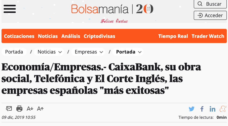 Press Release about Advice´s study in Bolsamanía