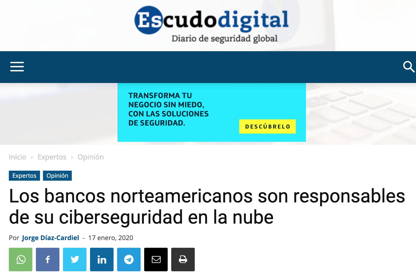 Article by Jorge Díaz-Cardiel in Escudo Digital