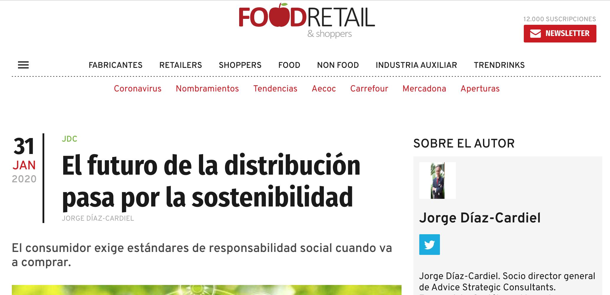 Article by Jorge Díaz-Cardiel in Food Retail