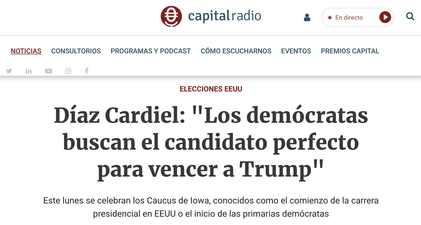 Article by Jorge Díaz-Cardiel in Capital Radio
