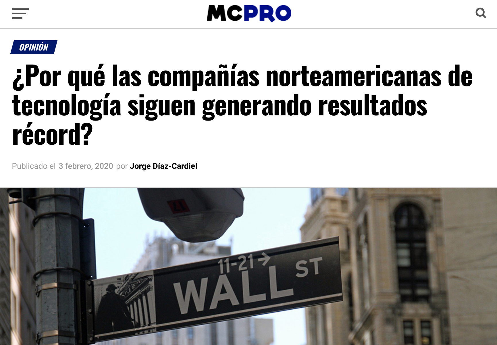 Article by Jorge Díaz-Cardiel in Muy Computer Pro