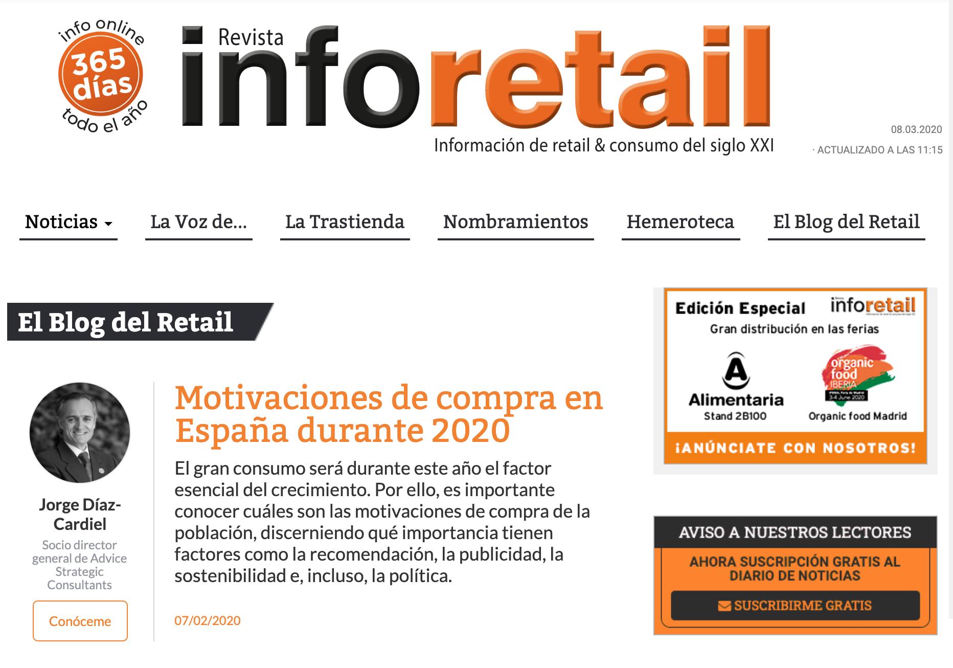 Article by Jorge Díaz-Cardiel in Revista Info Retail